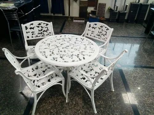 Metal Cast Iron Chair Set