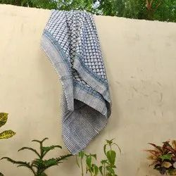 Handmade Cotton Kantha Bed Cover