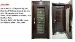 Metal Designer Doors, Thickness: 70mm