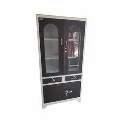 Fancy Both Side Glass Steel Cupboard