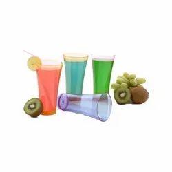 Round Plastic Plain Juice Glass, Capacity: 200 Ml