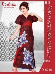 Cotton Proceian Printed Nightgown