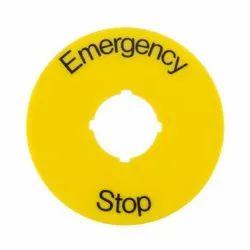 Emergency Stop Legend Plate