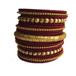 Jaipuri Resham Wedding Set Thread Bangles