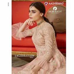 Indo Western Net and Satin Aashirwad Ladies Gown