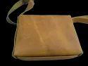 Open Designer Leather Messenger Bag