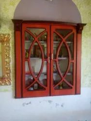 JKI Brown Wooden Cupboard, For Home