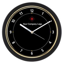 Eleven Virtue Black Designer Wall Clock, For Home,Offices