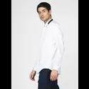 Green Hill Men''S Designer White Solid Shirt