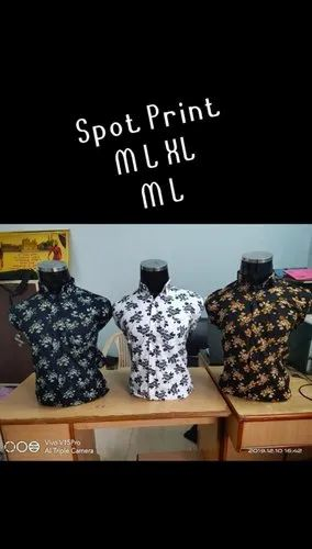M20 Blue Black And White cotton print shirt, For M L Xl
