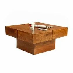 Brown Rectangular Sofa Table, for Home, Warranty: 3 Years