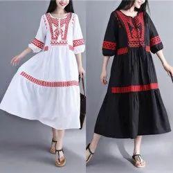 Woman Cotton Long Middi