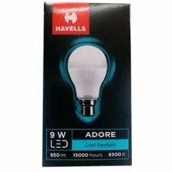 Round 9 W 9W Havells LED Bulb