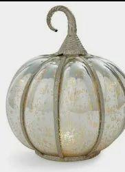 Golden Round Decorative glass pumpkin, For Decoration