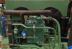 Mild Steel 50 Hz Double Stage Industrial Condensing Unit, Automation Grade: Fully Automatic