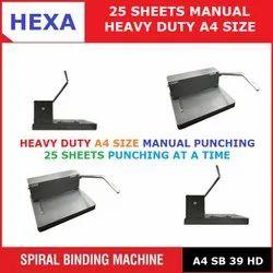 Hexa 25 Sheet Spiral Binding Machine, Size/Dimension: A4, Fast