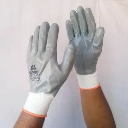 Grey EN Nitrile Full Coated Glove, MNF31-WG