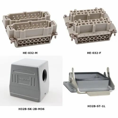 HDC-HE-006F HE-006M 6-pin heavy duty connector side single-lock With dust cover