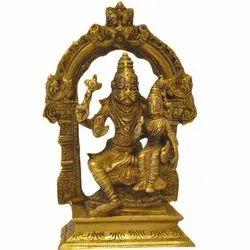 Brass Narasimha Lakshmi Statue