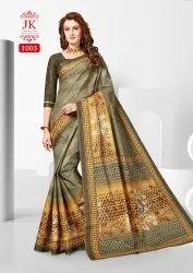 Printed JK Tulsi Cotton Saree, 5.5 m (separate blouse piece), Blouse Size: 0.80 M (approx)