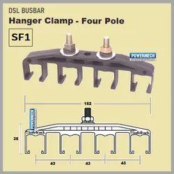 SF1 Four Pole Safetrack DSL Busbar Hanger Clamp