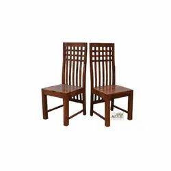 2 Antique Sheesham Wooden Chair, No Of Legs: 4