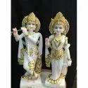 Marble Stone Radha Krishna Statue