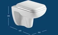 Wall Hung Toilet With PP Seat Cover & Fittings