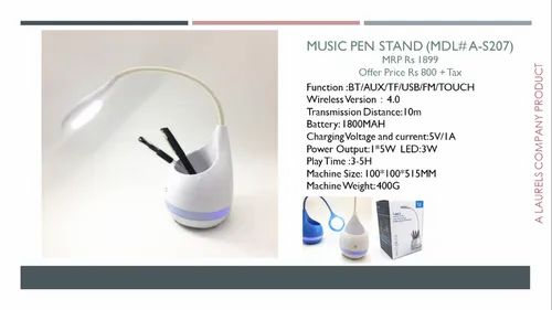 Music Pen Stand Sound Box With Light