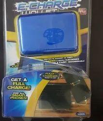 Bi Fold Blue E Charger Wallet