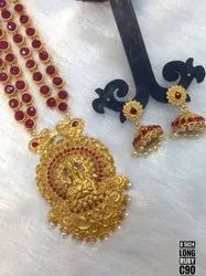 South Indian Style Matte Jewellery Set - 5024