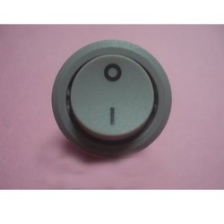 16A 250VAC, WS10R Grey, SPST 2Pin With marking Round Rocker Switches Teknic