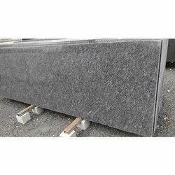 Polished Finish Steel Grey Granite Slabs, Rectangular, Thickness: 15-20 Mm