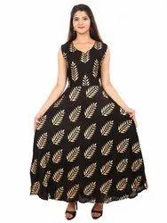 Rayon printed. Dress