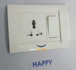 B'Five Milky White Indicator Modular Plate