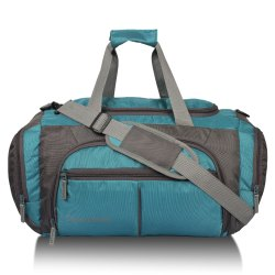 Light Grey & Blue Colored Travel Bag