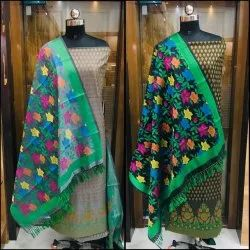 Cotton Banarasi Meenakari Suits