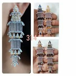 American Diamond Long Earring For Women