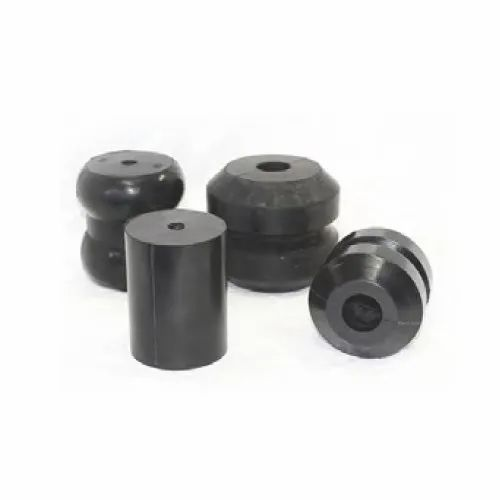2 New 250mm Black Plastic Wheels with moulded rubber tyre,