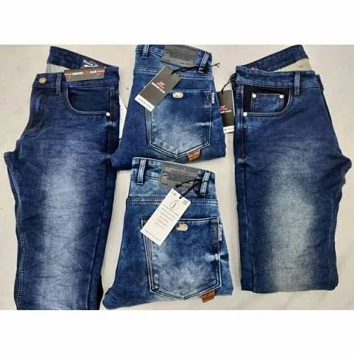 Mens Faded Blue Jeans, Waist Size: 38