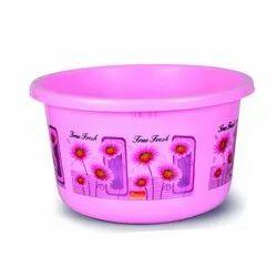 Pink Printed Plastic Tub