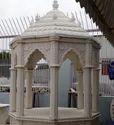 White Marble Stone Chatri, For Garden, Bunglow