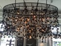 Glass Modern Bulb Industrial Chandelier, Model Number: 234567, For For Personal Use