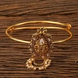 Antique Gold Plated Classic Baju Band 200642