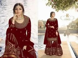 a072b64864 Thankar Designer Heavy Embroidered Gharara Suit