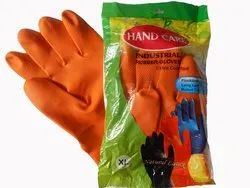 Industrial Orange Or Black Rubber Hand Gloves