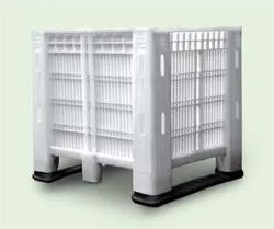Plastic Pallet Container And Bins , Capacity: 750 Kgs, Size/Dimension: 1200 x 1000 x 810 Mm
