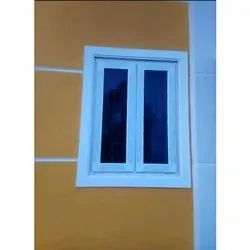 Folding White UPVC Glass Window, for Residential