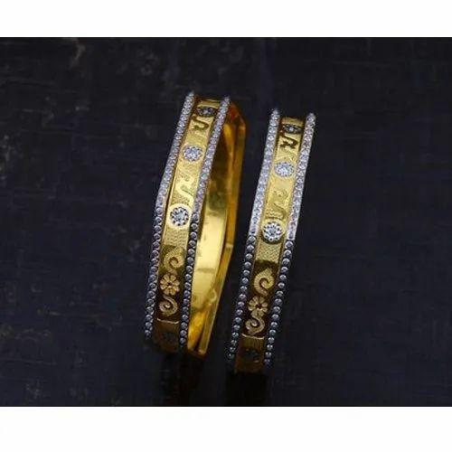 Golden Party Wear CNC Bangles