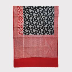 Black & Red Silk Saree